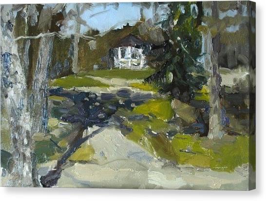 In The Park Canvas Print by Assol Agaidarova