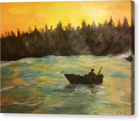 John Boats Canvas Print - In The River by Sarah Sue C