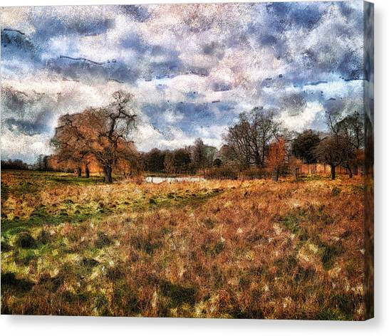 In The Rough Canvas Print