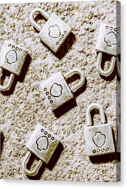 Lock Canvas Print - In The Safe Room by Jorgo Photography - Wall Art Gallery