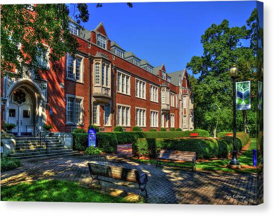 Georgia State University Canvas Print - In The Shade Campbell Hall Columbia Theological Seminary Art by Reid Callaway