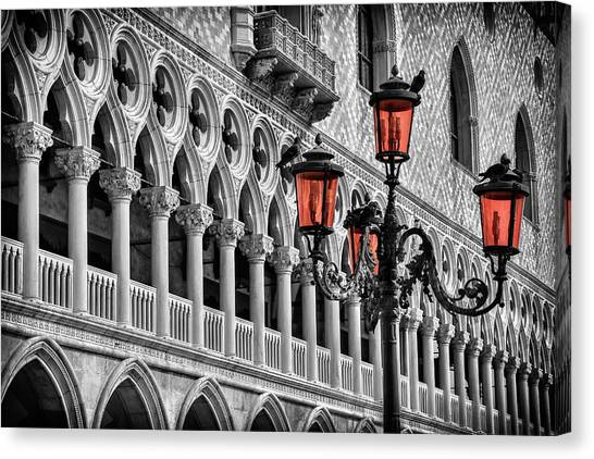 San Marco Canvas Print - In The Shadow Of The Doges Palace Venice by Carol Japp