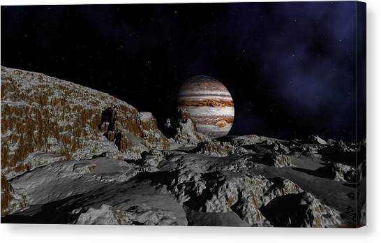 In The Shadows Of A Distance Giant Canvas Print
