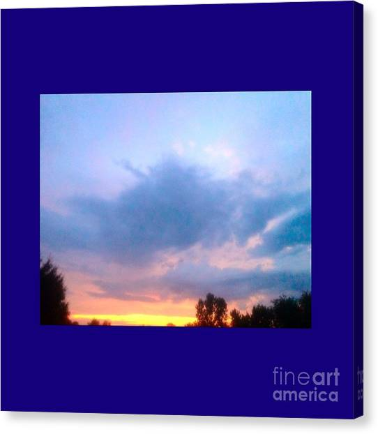 Matting Canvas Print - In The Sky Above And Below by Debra Lynch