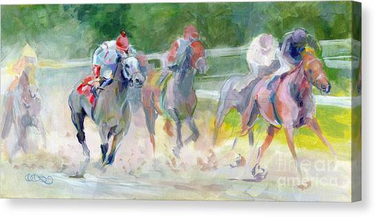 Thoroughbreds Canvas Print - In The Slop by Kimberly Santini