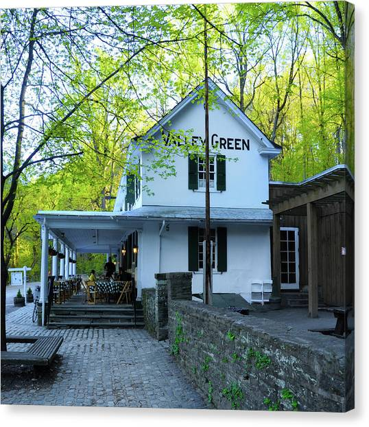 Canvas Print featuring the photograph In The Spring At Valley Green Inn by Bill Cannon
