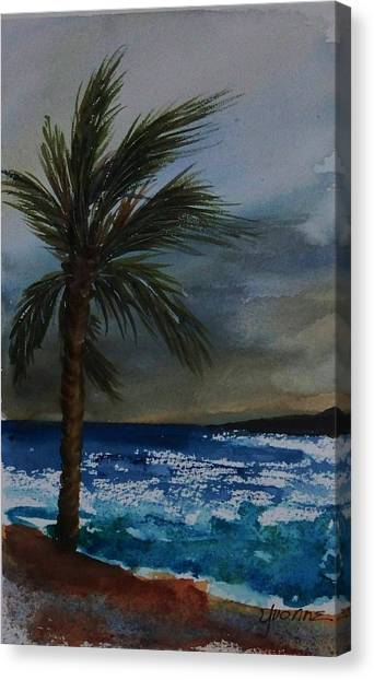In The Storm Canvas Print by Yvonne Kinney