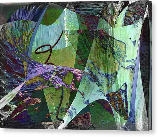 Frank Stella Canvas Print - In The Vortex by Linda Dunn