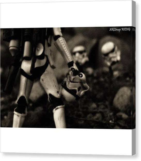 Stormtrooper Canvas Print - In This War The Term no Man Left by Brandon Wong