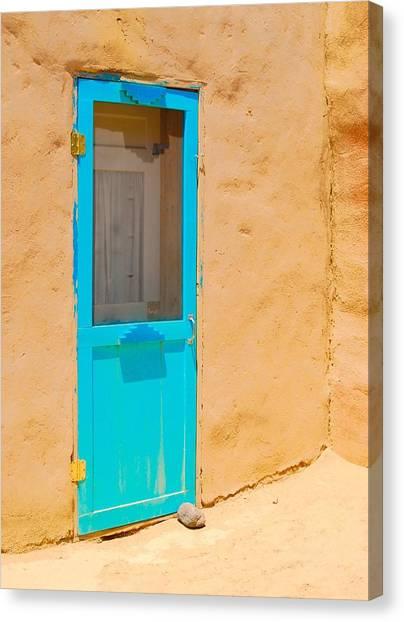 In Through The Blue Door Canvas Print