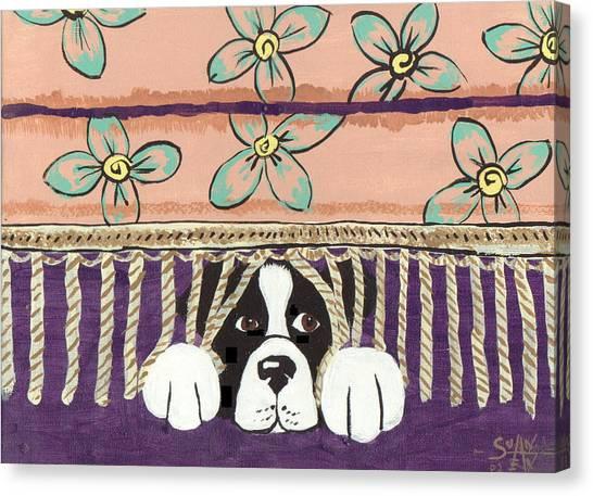 In Trouble Canvas Print by Sue Ann Thornton