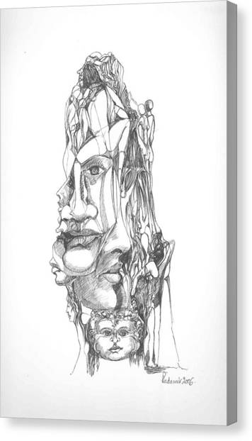 In Your Head Canvas Print by Padamvir Singh
