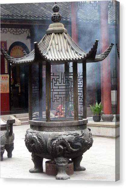 Incense Burner Shanghai Canvas Print