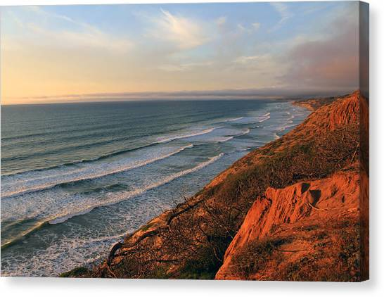 Incoming Fog At Torrey Pines Canvas Print by Robin Street-Morris
