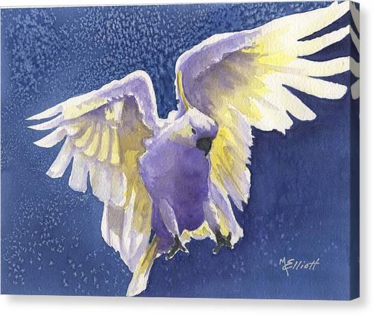 Cockatoo Canvas Print - Incoming by Marsha Elliott