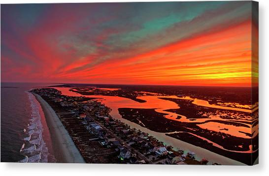 Incredible Point Sunset Canvas Print by Robbie Bischoff