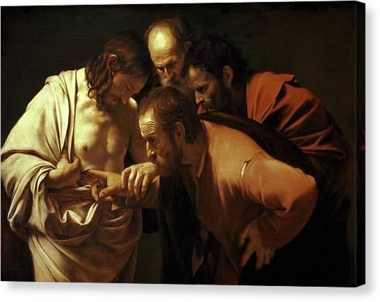 Incredulity Of Saint Thomas Canvas Print