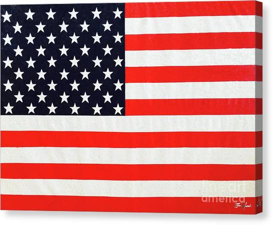 Pooling Independence Day Large Scale Oil On Canvas Original United States Flag Canvas Print
