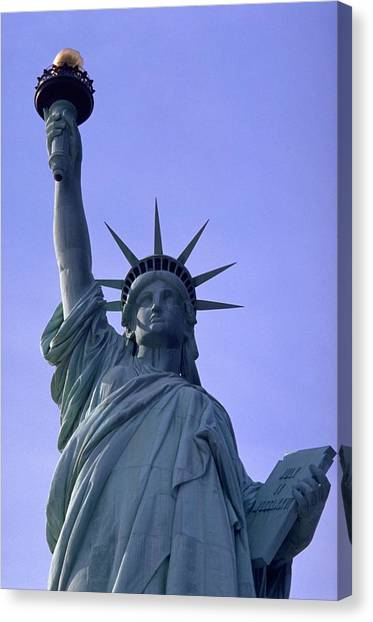Blue Travelpics Canvas Print - Independence Day Usa by Travel Pics