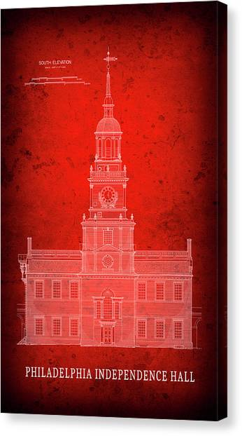 Architectural blueprint canvas prints page 6 of 20 fine art america architectural blueprint canvas print independence hall blueprint philadelphia by daniel hagerman malvernweather Choice Image