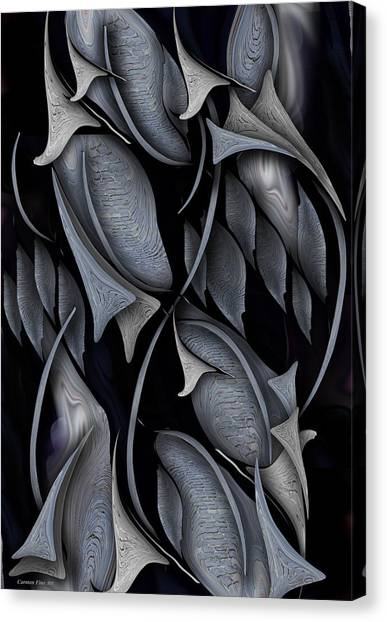 Canvas Print featuring the digital art Indestructible Transformation Of Life by Carmen Fine Art