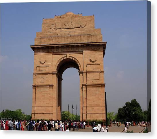 India Gate - New Delhi - India Canvas Print