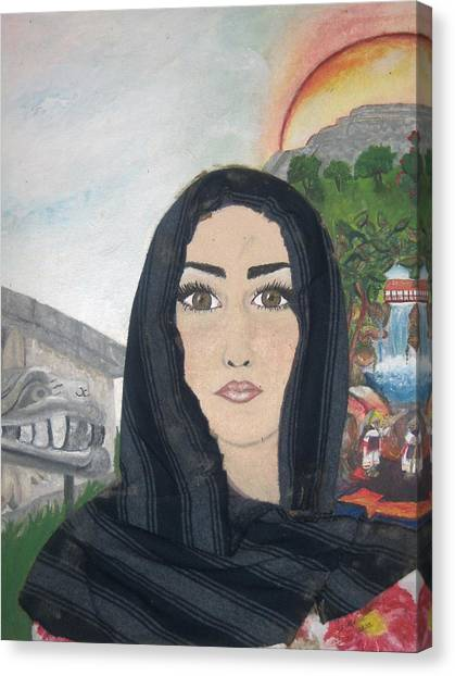 India Canvas Print by Jessica  De la Torre