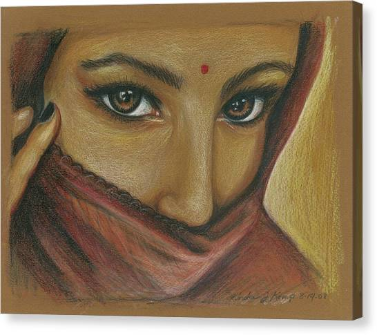 India Woman Canvas Print