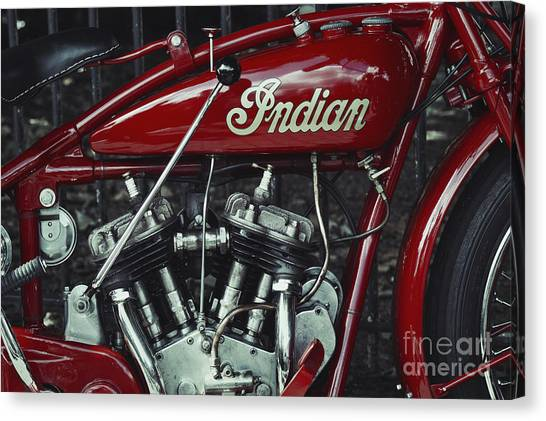 Scouting Canvas Print - Indian 101 Scout by Tim Gainey