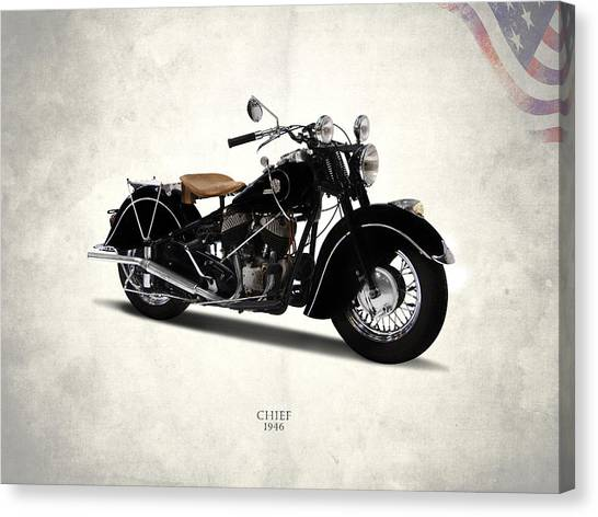 Indians Canvas Print - Indian Chief 1946 by Mark Rogan
