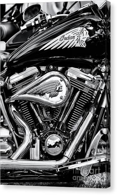 Centennial Canvas Print - Indian Chief Centennial Motorcycle by Tim Gainey