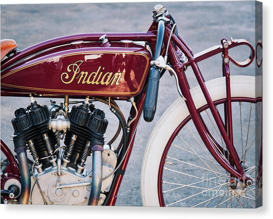 Motoring Canvas Print - Indian Daytona Board Track Motorcycle by Tim Gainey