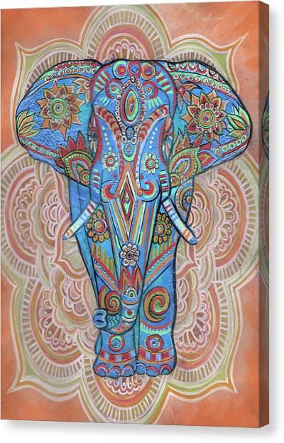 Light Brahma Canvas Print - Indian Elephant  by Stephen Humphries