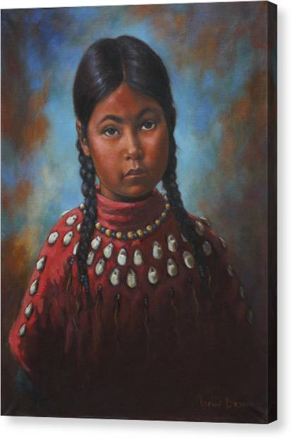 Indian Girl Canvas Print