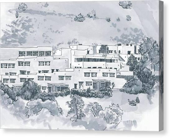 Indian Lodge Canvas Print by Karen Boudreaux