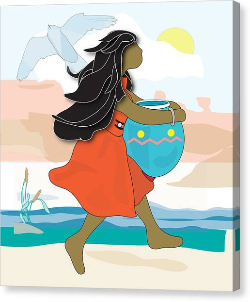Indian Maiden Canvas Print by Susan Nelson