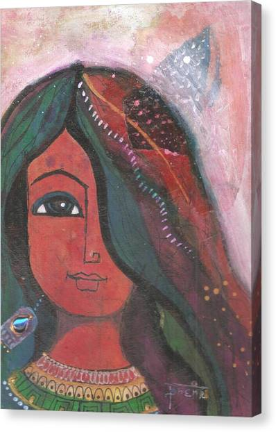 Indian Rajasthani Woman Canvas Print