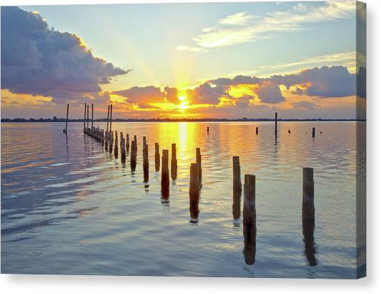 Indian River Sunrise Canvas Print