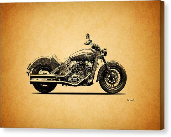 Scouting Canvas Print - Indian Scout 2015 by Mark Rogan