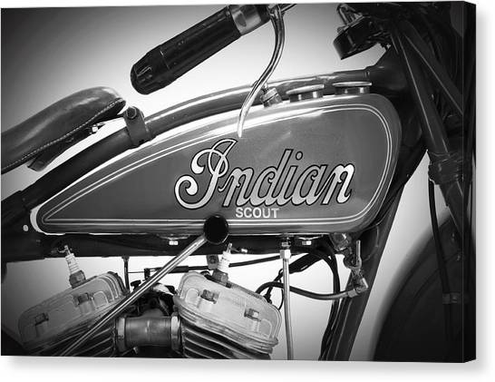 Scouting Canvas Print - Indian Scout Detail by Mark Rogan