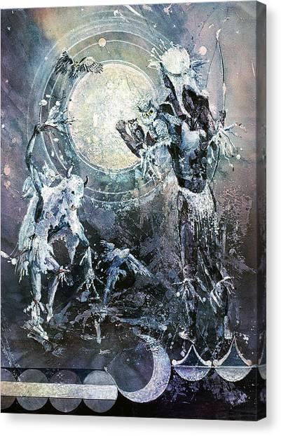 Indian Spirit Lunar Dance Canvas Print