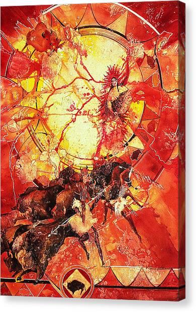 Indian Spiritual Hunt Canvas Print