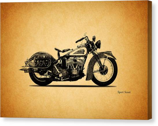 Scouting Canvas Print - Indian Sport Scout 1939  by Mark Rogan