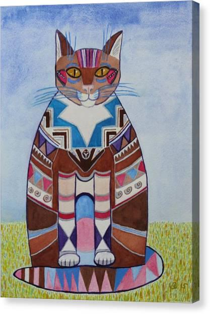 Indian Squirrel Cat Canvas Print