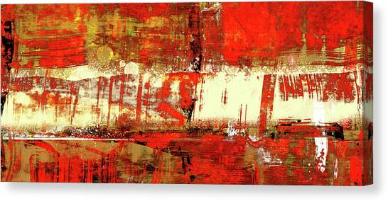 Indian Summer - Red Contemporary Abstract Canvas Print
