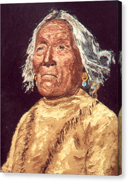 Indian Warrior Canvas Print by Stan Hamilton