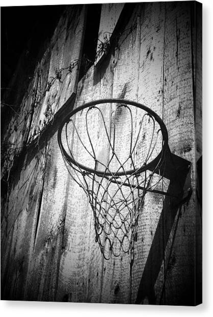 Basketball Canvas Print - Indiana Hoop by Michael L Kimble