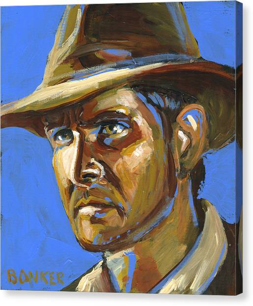Indiana Jones Canvas Print by Buffalo Bonker