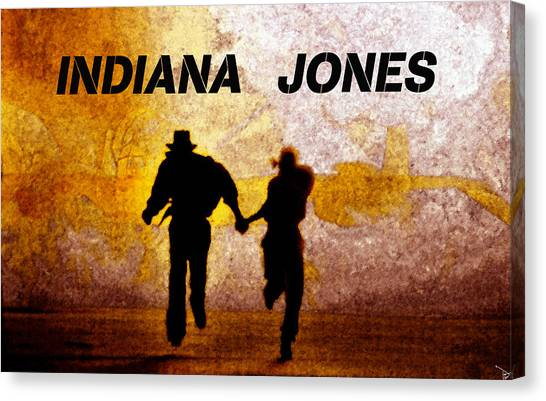 Raiders Of The Lost Ark Canvas Print - Indiana Jones Poster Work A by David Lee Thompson