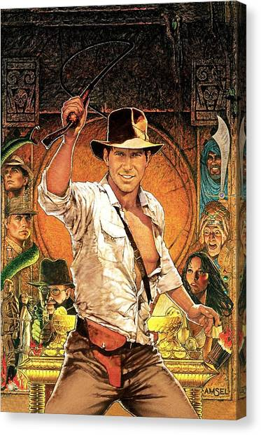 Raiders Of The Lost Ark Canvas Print - Indiana Jones Raiders Of The Lost Ark 1981 by Fine Artist